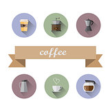 Coffee Shop flat icons