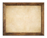 wood frame with old paper background
