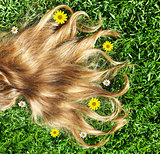 Closeup on beautiful hair