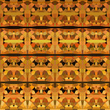 abstract geometric pattern backdrop  in orange yellow