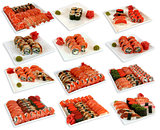 Set of various japaneese cuisine meal sushi