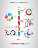 Timeline with Infographics design elements for brochures, data display