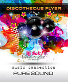 Disco Night Club Flyer layout with Speaker shape