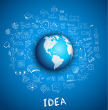 Idea Concept Layout for Brainstorming and Infographic background