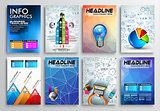 Set of Flyer Design, Infographics Brochure Designs