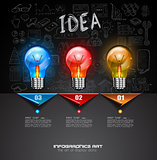 Infographic Layout for Brainstorming Concept background with graphs sketches
