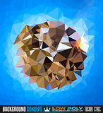 Low Poly trangular trendy Art background for your polygonal flyer,