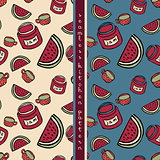 set of food seamless pattern