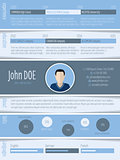 Blue white resume design