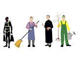 Four professions men