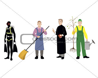 Four professions men