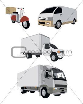 Four vehicle set