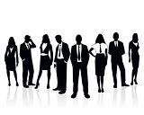 Business team silhouette