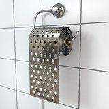 Hemorrhoids concept.Toilet paper  as grater.
