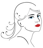 woman face drawing 3