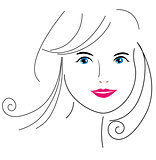 woman face drawing 6