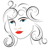 woman face drawing 7