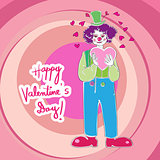 Valentine clown