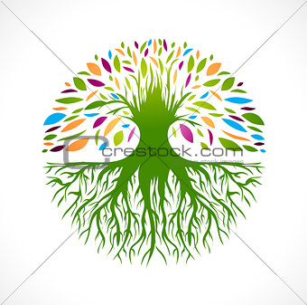 Abstract Vitality Tree Logo