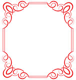 Vector ornate frame on a white background