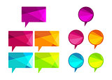 Vector polygonal speech bubbles