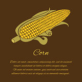 Greeting card with corn and text