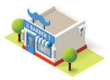 Vector isometric barbershop
