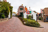 Quiet streets in Urk, the Netherlands