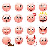 Pink emoticons