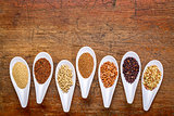 seven healthy, gluten free grains