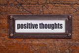 positive thoughts - file cabinet label