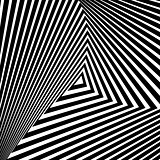 Design monochrome triangle illusion background