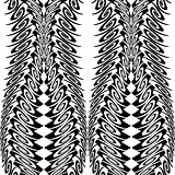 Design seamless monochrome vertical decorative pattern