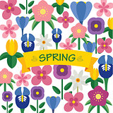 spring flower  background flat design