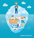 behind business success flat design