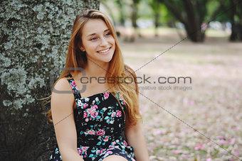 Beautiful smiling girl outdoors