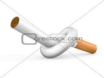 Knotted cigarette