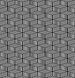 Seamless geometric texture. Op art pattern.
