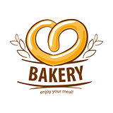 vector logo fresh pretzel bakery
