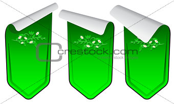 Green stickers set