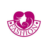vector logo heart and face for fashion