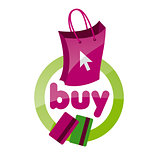 vector logo shopping bag, basket