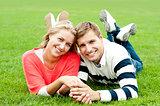 Couple outdoors enjoying the fresh air