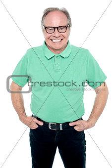 Smartly dressed senior man posing for a portrait