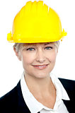 Closeup shot of contemporary construction engineer