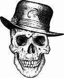 Vector skull pimp illustration
