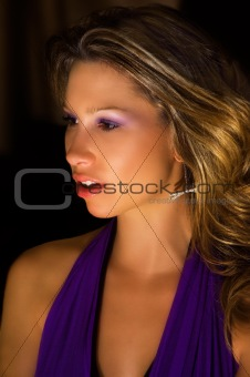 Beautiful girl in evening dress