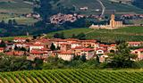 Village in Beaujolais region, France