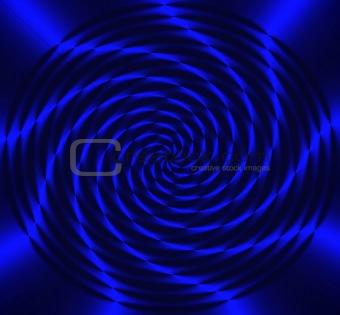 Spinning Blue Wheel