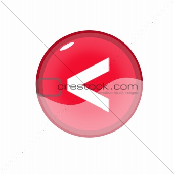 back web button isolated on white background